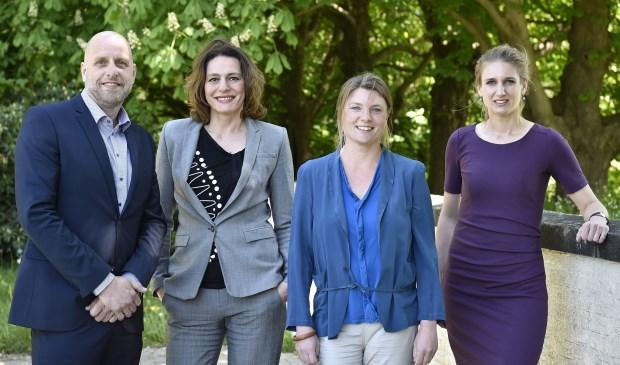De wethouders Dijkhuizen, Kundic, Treep-Hoeckel en Van Aalst-Veldman (vlnr).(Foto: gemeente Soest / Jaap van den Broek)