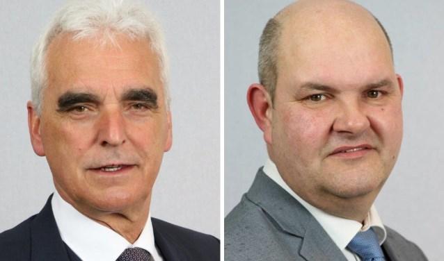 Wethouders Peter de Vries (CDA) en Erik van Hoften (SSM). Foto's: Gemeente Maasdriel