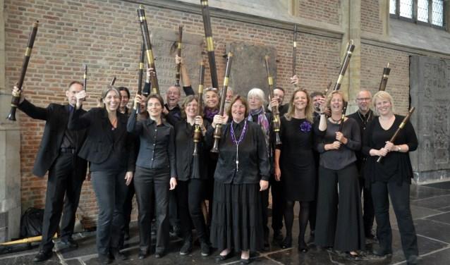 Een orgel en twintig blokfluiten, een prima reden voor een bezoekje aan De Fontein!