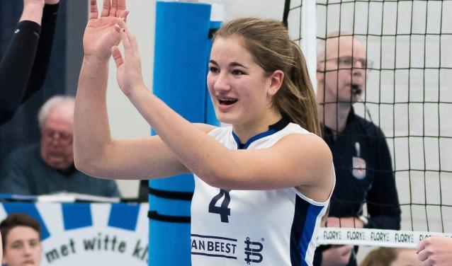 Jolijn de Haan is pas 15 en komt komend seizoen uit voor Dames 1. (Foto: Hans van Wijngaarden)