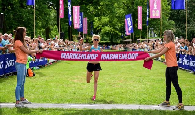 Ruth van der Meijden bij de 15e Marikenloop in 2017. (Foto Marikenloop)