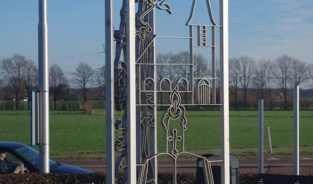 Monument Ludger aan de weg naar Baak. (Foto: Stedelijke Musea Zutphen)