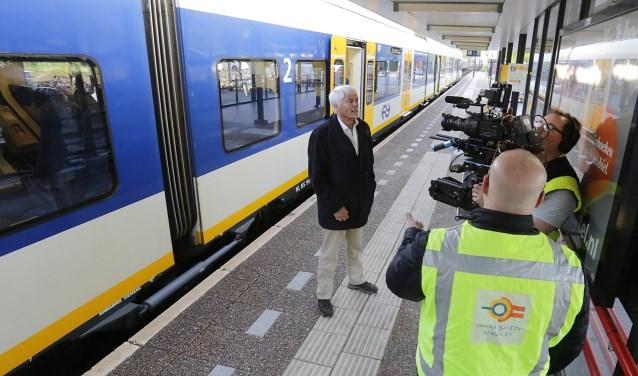 Klaas Wilting tijdens de opnames voor de trailer van de film 'Wending'. Foto: Jurgen van Hoof