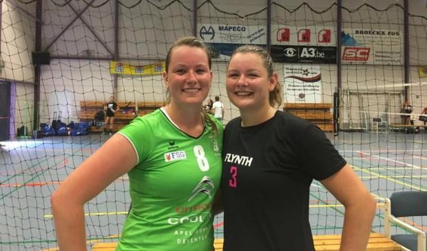 Bregje (l) en Veerle van den Heuvel spelen vanaf seizoen 2017-2018 weer samen. Nu voor Flynth FAST.