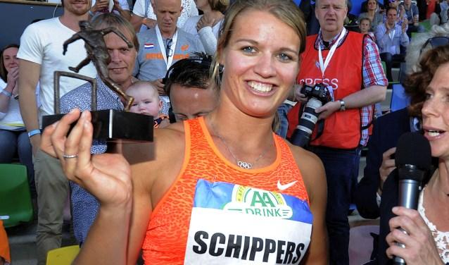 Dafne Schippers is de bekendste deelnemer aan de FBK Games op zondag 3 juni. Foto: Toma Tudor/Tubantia