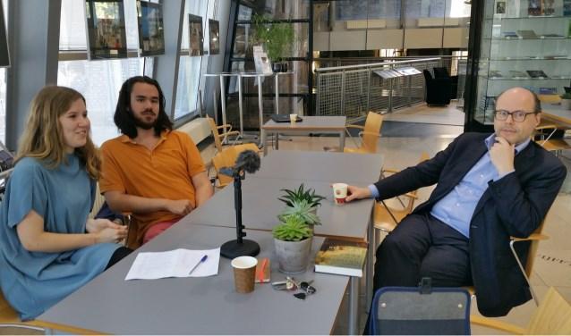 ZA en ZB zijn ook werkplekken voor UCR studenten. v.l.n.r: Anna den Hollander, Silvano Bart,  Arjan van Dixhoorn.  FOTO: Theo Rietveld