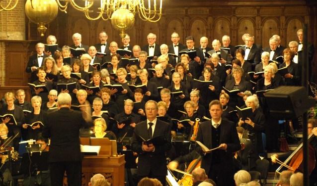 De Christelijke Oratorium Vereniging Goes tijdens een uitvoering van de Johannes Passion op 24 maart 2017. FOTO: PR