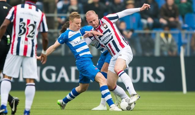 Rick Dekker in de wedstrijd tegen Willem II. (foto: Henry Dijkman)