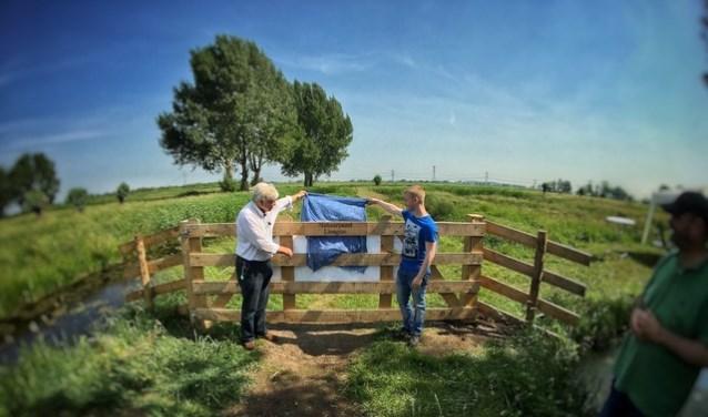 Natuurparel Liesgras geopend door opa Arie en kleinzoon Bram.