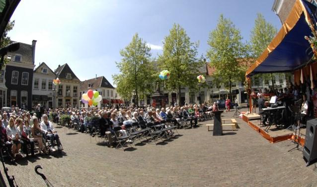 Een eerdere openluchtdienst in Wijk bij Duurstede. FOTO: Paul Groenveld