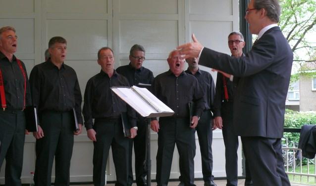 Het Martinikoor treedt dinsdagavodn op in de Muziekkoepel in Overdinkel.