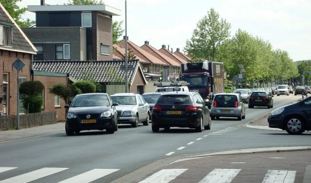 De Emmalaan is door de toegenomen verkeersdrukte erg onveilig. Foto: Mimi van Rossem