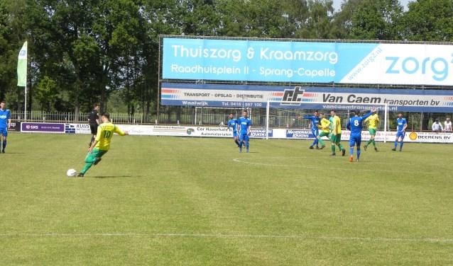 SV Capelle heeft zaterdag thuis met 6-1 gewonnen van BLC uit Den Bosch. Foto: CVC fotografie