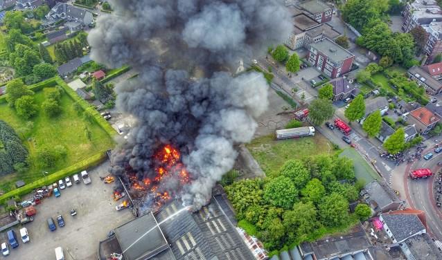Vlakbij het centrum van Valkenswaard brak een grote brand uit.