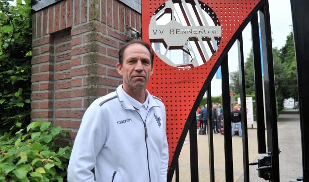 Bennekom trainer Arnold Brehler is duidelijk en streeft het hoogste na. (foto: gertbudding.nl)