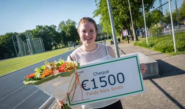 Steffie van der Peet wordt ondersteund door haar universiteit. Foto: PR