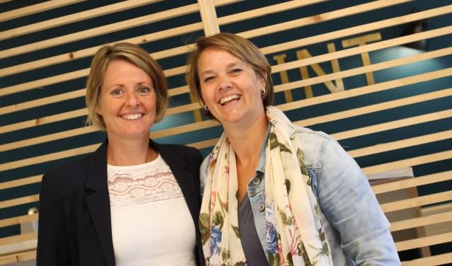 Lisette Vorselman (MMC) en Inge Wouters (ASML) zijn betrokken bij de organisatie van de hotspot ASML - MMC. FOTO: Ad Adriaans.