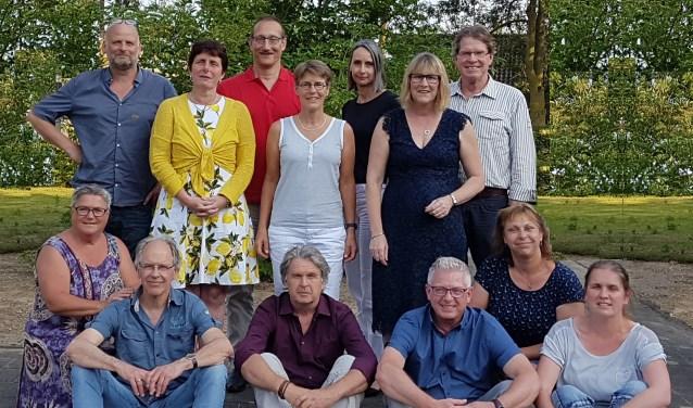 Een groepsportret van de betrokkenen bij Psygroep Maasvallei.