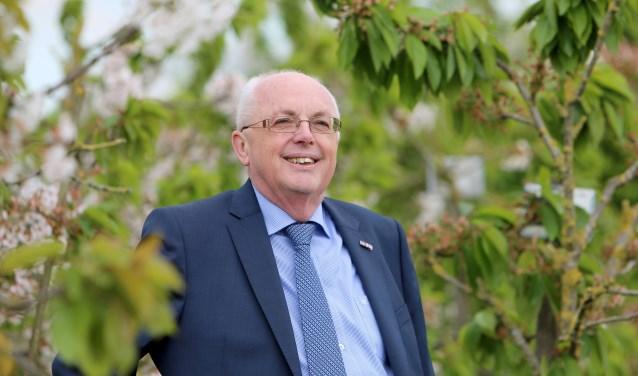 Voormalig wethouder Herman Gerritsen voelde zich thuis in 'het groen'. (foto: gemeente Neder-Betuwe)