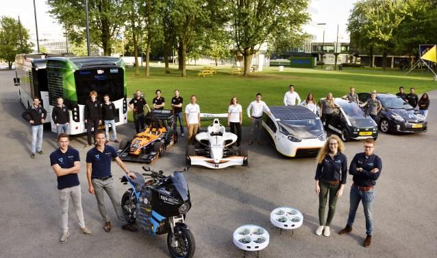 Studententeams TU Eindhoven laten tijdens DTW zien waar zij zich mee bezighouden.