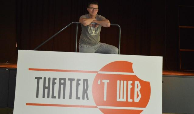 Mario van Vliet ziet dat de formule van Theater 't Web aanslaat (foto Marianne Dijkshoorn)