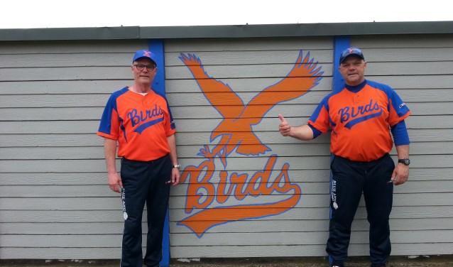 Links Rob en rechts  Johan Korpel nieuw bij Birds