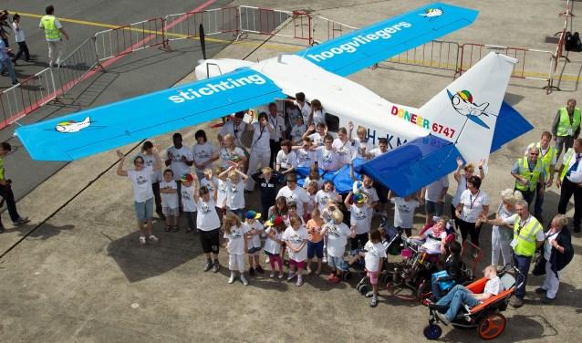 Op 30 juni komt op vliegveld Midden-Zeeland tijdens Hoogvliegersdag voor veel kinderen een droom uit. FOTO: PR