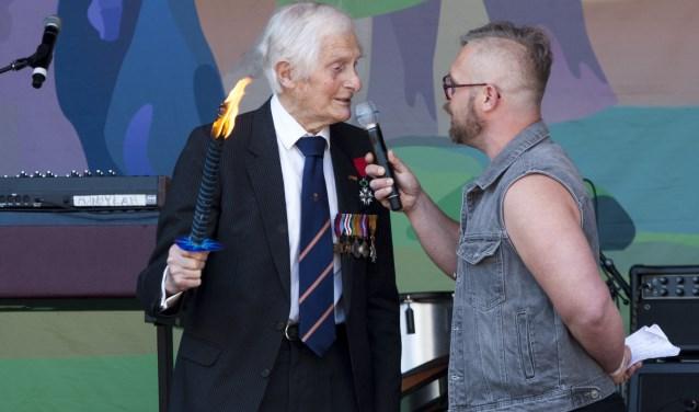Kenneth Mayhew (101 jaar). Foto: Johan Mulder