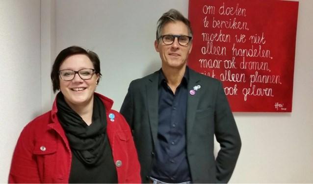 Sacha Lukassen (links) en Henk Ermers van Pantein. (foto: eigen foto)