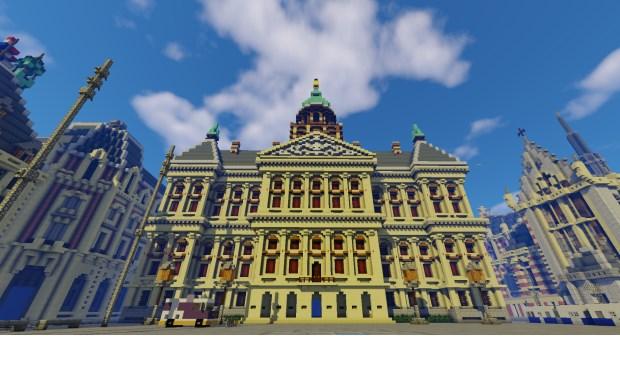 GeoFort heeft heel Nederland met behulp van kadastrale gegevens en hoogtekaarten op een schaal van 1:1 nagebouwd met ongeveer 1000 miljard Minecraft-blokken.