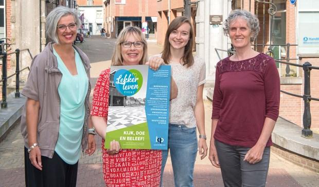 De organisatoren van het event (vlnr): Cisca den Boer, Liesbeth Dokman, Janneke van den Berg en Els Wieles. Foto: Alex Willemsen