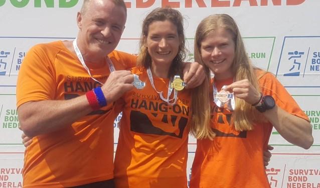 3 medailles Hang On NK Lange Survivalrun