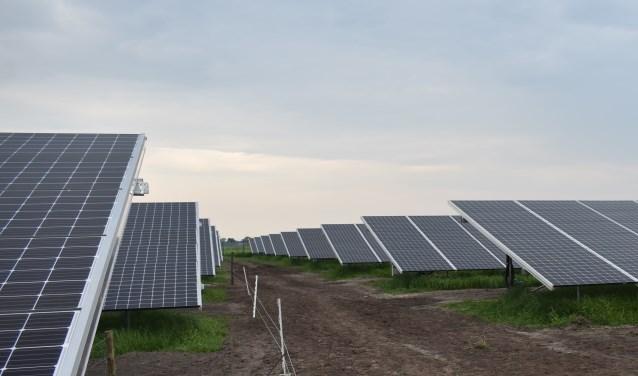 Voorbeeld van een zonnepark