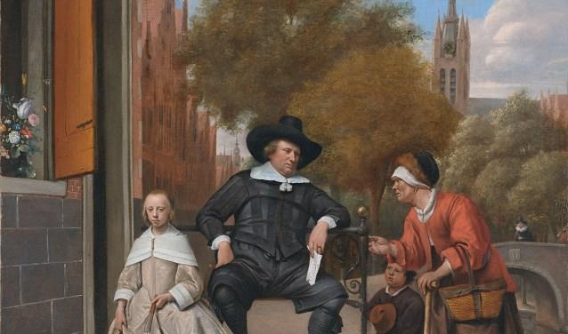 Adolf en Catharina Croeser aan de Oude Delft, bekend als 'De burgemeester van Delft en zijn dochter'