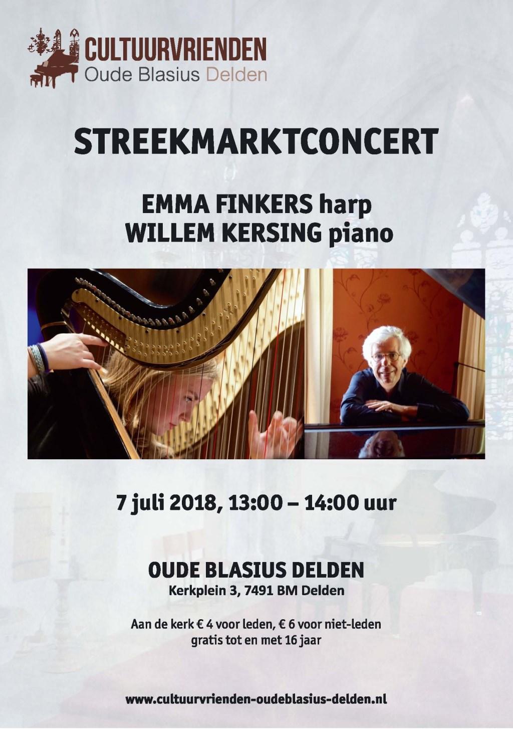 Emma finkers en Willem Kersing. Concert informatie.