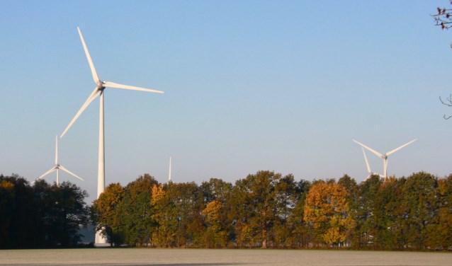 De windmolens bij de Vennebulten.