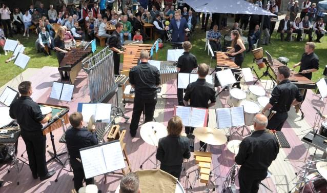 Slagwerkgroep Wilhelmina tijdens een eerdere editie van het Muziekfestival in Pannerden. (foto: PR)