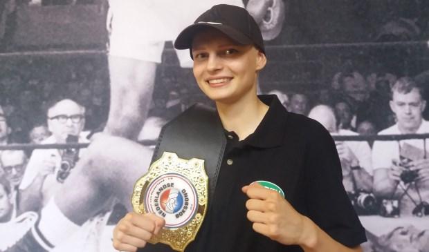 Juna Prinssen versloeg Sarah Edge en werd kampioen van Nederland. Eigen foto