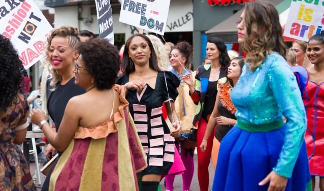 Modeparade 2 juni in de binnenstad.