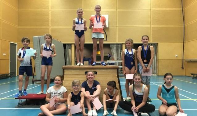 Prijswinnaars selectie 2007 en ouder en recreatie 20017/2008 geflankeerd door de deelnemers uit die categorieën.