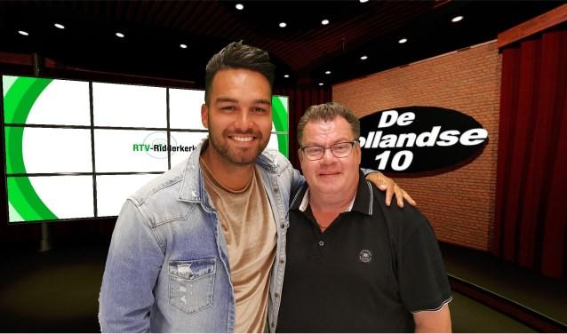 Deon Leon en Richard Veen (Foto RTV Ridderkerk)