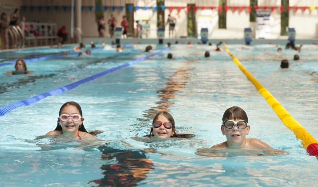 Zwem4daagse bij De Warande in Oosterhout (foto: Edwin Wiekens)