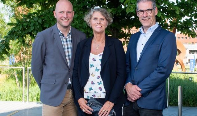 De drie genomineerden voor de Ondernemersprijs Land van Cuijk & Noord-Limburg. (persfoto)