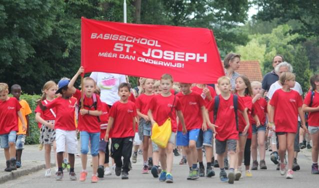 Ook de St. Joseph-school deel als één van de vele deelnemers mee.