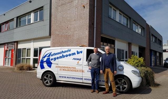 Arie-Jan Korver en Nico Hogenboom voor het nieuwe bedrijf aan de Leidekkersweg.