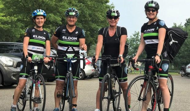 Inge Verhoeven, Marij Sweep, Miranda van Rijswijk en Mariëlle Sprangers behaalden samen een 24e plaats.