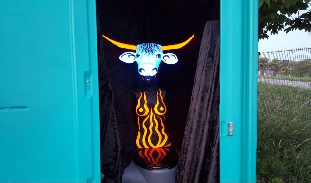 De laatste twee weekenden van juni loopt een creatieve flow door Zaltbommel. Die trekt door tot op de Gamerschedijk 2a waar vijf kunstenaars jong en oud uitnodigen tot een onvergetelijk toiletbezoek. Foto: Nanda van Alebeek