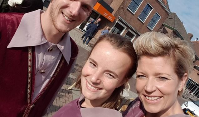 Het Mediateam van het Bruegheliaans Festijn: Rick Schuler, Carolien Boersma en Sandra Tiethoff.