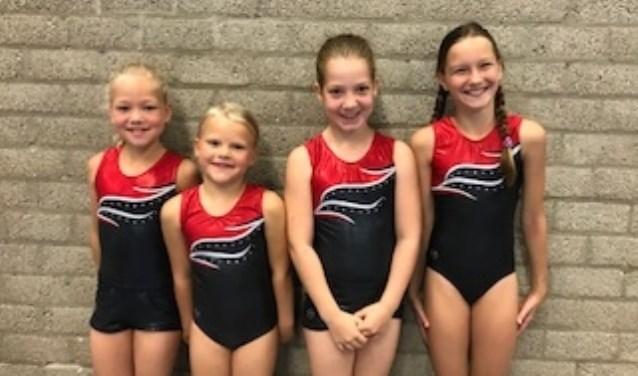 Eline van Gammeren, Nowi van Drunen, Fabienne van Goor en Hannah Vink.