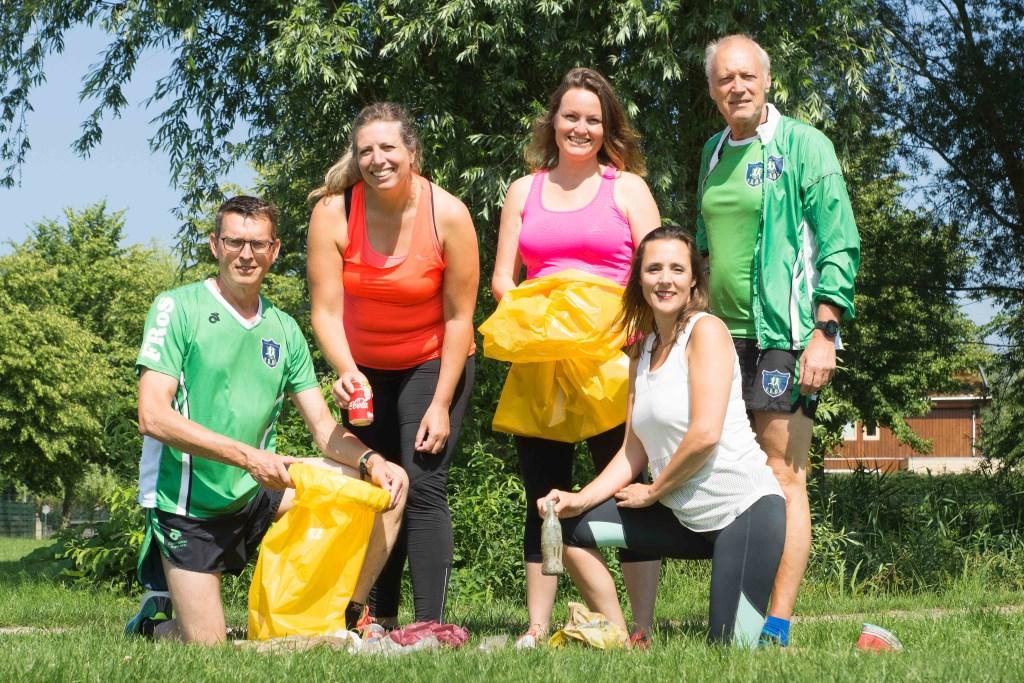 De organisatoren (vlnr): Eef Spies, Marloes Heebing, Wendy van Heumen, Peggy Blaauw en Rob Jansen.